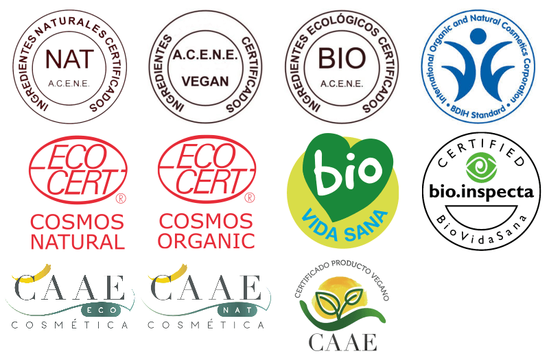 Natural and organic cosmetic certificates